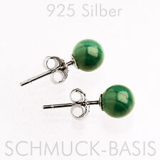 Schöne Ohrstecker Malachit;  925 Silber TOP!!!