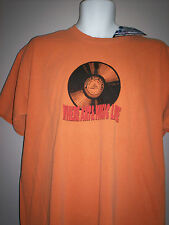 NEW with TAG--ROCK and  ROLL HALL OF FAME -T-SHIRT--Orange-S-M--L-- XL--2XL----H