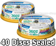 Genuine 40 Verbatim Blu ray BD-R DL 50GB 4x Dual Layer Bluray Inkjet Printable