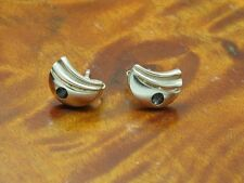 925 Sterling Silver Ear Studs With Spinel Decorations / Real Silver/0.0494oz