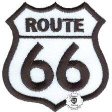 ROUTE 66 -  Patch Aufnäher Biker Vintage Hot Rod Old School Racing