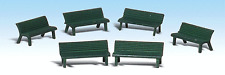 Woodland Scenics Figures #1879 - Park Benches HO Scale (6 Benches) Model Trains