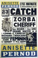 """""""ANISETTE PERNOD / CATCH"""" Affiche originale entoilée 23 MARS 80 44x64cm"""