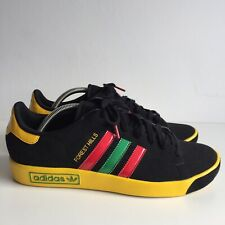 Adidas Forest Hills Black Yellow Size 10 Green Red Rasta Trainers Rare