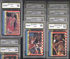 1987 Fleer #2 Sticker + COMPLETE SET** Michael Jordan ** ALL GRADED GEM MINT 10