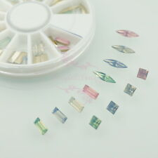 60pcs Mix Shape Opal Color Resin Rhinestones Acrylic Nail Art 3D Deco with Wheel