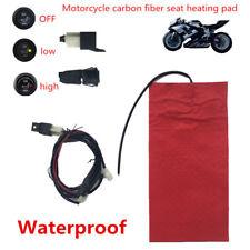 Universal Wasserdichte Motorrad ATV Sitzheizung Kissen Carbon Fiber Pad 25 Watt