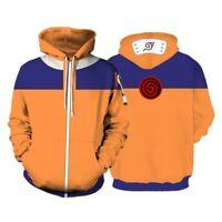 Uzumaki Naruto0 Pullover Hoodie Jumper Hooded Sweatshirt Men's Cosplay Costume