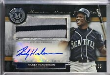 2020 Topps Museum Rickey Henderson Momentous Materials Jumbo Patch Autograph /15
