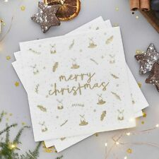 20 Merry Christmas Paper Napkins Table Serviettes Party Tableware Beverage 165mm