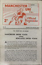More details for manchester united youth v newcastle united youth fa youth cup 4th round 1961/62