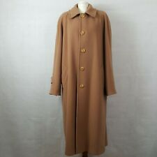 Weinberg Womens Coat Camel Size 20 Luxurious Wool Cashmere Full Length Vintage