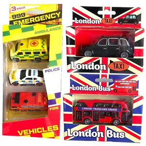 Red London Bus,London Taxi ,Emergency Car Toy Children,Kids Gifts Double Decker