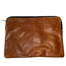"DeCoded Brown Rustic Leather Slim Cover Sleeve MacBook Air 11"" or Ipad Case"