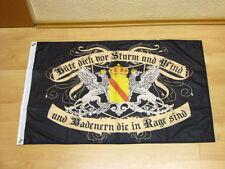 Fahnen Flagge Baden Hüte dich vor Sturm und Wind Digitaldruck - 60 x 90 cm