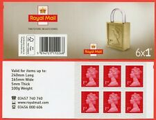 Mb18a 2018 6 x 1st ' M18L ' Padlock Design. Pairs of lines Inverted Backing.