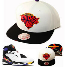 Mitchell & Ness NBA New York Knicks Snapback Hat Air Jordan 8 Retro 3-Peat Cap