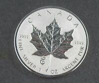 2013  - 1 Oz  - 9999 Pure Silver Maple Leaf   -   Snake  Privy  -  RCM