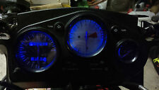 BLUE honda cbr600f3 95 to 98  led dash clock conversion kit lightenUPgrade