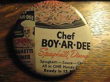 Chef Boy Ar Dee BoyArDee Spaghetti 1945 Old Advertisement Pocket Lipstick Mirror