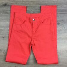 H&M Coral Skinny Leg Jeans Youth/Men's Jeans Size W27 L31 (Q11)