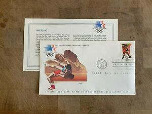 UNITED STATES USA 1984 FDC OLYMPIC SPORTS LIMITED EDITION WRESTLING