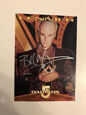 Bill Mumy Autographed Lennier Trading Card Babylon 5