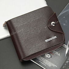 Nuevo ID de hombre con doble pliegue de cuero soporte tarjeta de crédito Bolso sin asas Billetera Monedero Billetera