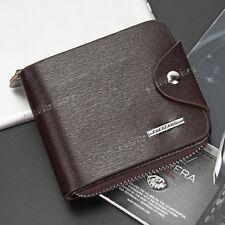 New Men's Bifold Leather ID Credit Card Holder Clutch Billfold Purse Wallet