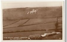 Dorset; The White Horse, Preston Nr Weymouth RP PPC Unposted, Shows Farm Below