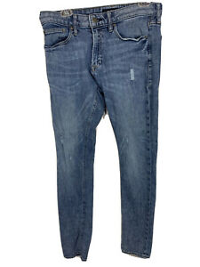 Mens Express Skinny Jeans Size 32 X 32 Distressed Look Pants Stretch Soft Cotton