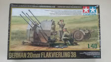 1/48 scale Tamiya models WWII German 20mm Flakvierling 38