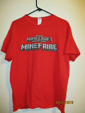 OFFICIAL MINECRAFT COMMUNITY EVENT MINEFAIRE AGENT T-SHIRT RARE STAFF SHIRT