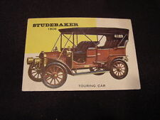 VINTAGE 1953 Topps World on Wheels #53 1906 Studebaker Card, VERY NICE!!