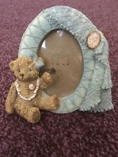 Vintage style teddy bear photo frame