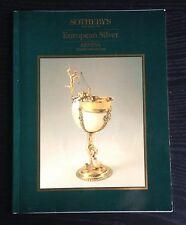 SOTHEBY'S  European Silver 1986 Geneva Catalog
