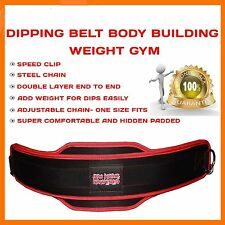 DIPPING BELT BODY BUILDING WEIGHT GYM DIP LIFTING CHAIN BARBELLS PULL UP CHIN UP