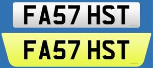 FA57 HST ( FAST HST) Private Plate On Retention