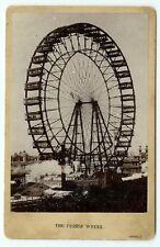 RARE WORLDS FAIR HISTORY: Ferris Wheel -1893 World's Fair Cabinet Card