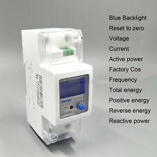 100A 230V 50Hz 60Hz din rail Energy meter voltage current power KWH DDS238-2 SW