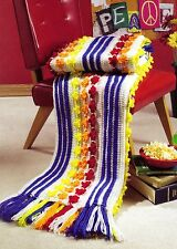 FUN Daisy Chain Afghan/Crochet Pattern INSTRUCTIONS ONLY