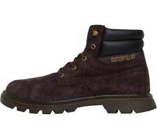 Caterpillar Mens Quadrate Lace Up Boots Chocolate  Size UK 8