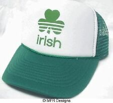 Irish Clover Trucker Hat mesh Hat Snap Back Hat St. Patrick's day hat green