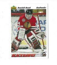 1991-1992 UPPER DECK DOMINICK HASEK ROOKIE CARD #335