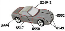 C5 Corvette 1998-2004 Full Body Convertible Weatherstrip Kit - 12 Pieces