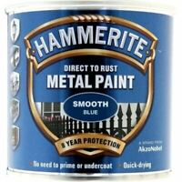 HAMMERITE DIRECT TO RUST METAL PAINT SMOOTH BLUE 250ML 5084884 TOP ITEM