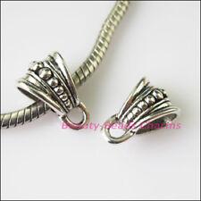 8Pcs Tibetan Silver Triangle Bail Bead Fit Bracelet Charms Connectors 9.5x15mm