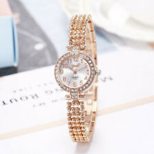 Womens Ladies Crystal Quartz Wrist Watches Rhinestone Watch Top Quality & New UK
