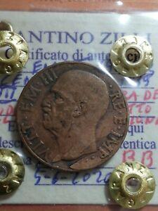 REGNO D'ITALIA - MONETA DA 10 CENTESIMI - 1939 - DIFETTO / ERRORE DI CONIO -N 6
