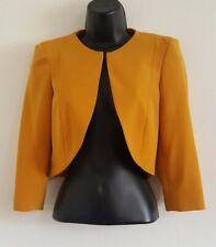 NEW x DP 10-24 Mustard Bolero Tailored Fit Structured Crop Soft Blazer Jacket